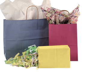 Varnish Stripe Tinted Kraft Shopping Bags